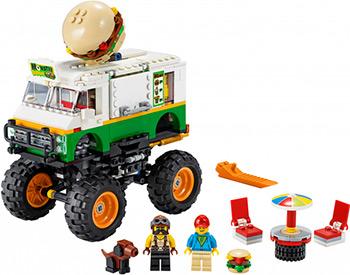 lego creator исследовательский планетоход 31107 Конструктор Lego Creator Грузовик «Монстрбургер» 31104
