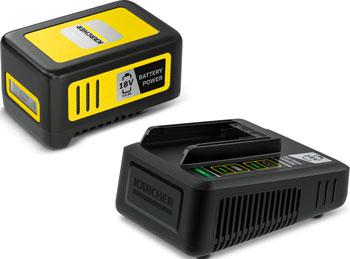 Комплект (аккумулятор, устройство быстрой зарядки) Karcher Battery Power 18/50 24450630 аккумулятор зарядное устройство karcher starter kit battery power 36 25 2 445 064