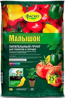 Фото - Грунт для томатов и перцев Фаско Малышок 25л Тп0102МАЛ03 грунт veltorf premium для томатов и перцев 10 л