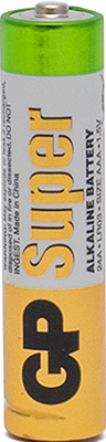 Батарейка GP Super Alkaline ААA 20 шт. GP 24A-2CRVS20 320/960