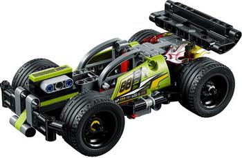 Конструктор Lego Technic: Зеленый гоночный автомобиль 42072 цена