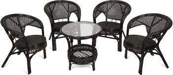 Комплект мебели Tetchair Pelangi 02/15 Со стеклом (Тёмно-коричневый) 3597