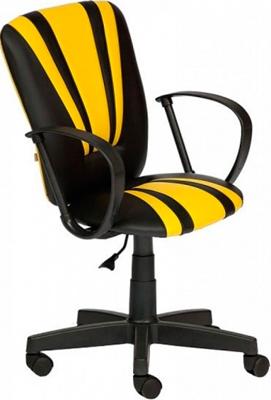 Кресло Tetchair Spectrum (кож/зам черный жёлтый ПУ36-6/ПУ36-14) кресло tetchair runner кож зам ткань черный жёлтый 36 6 tw27 tw 12