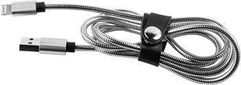 Фото - Кабель Red Line S7 USB-8-pin для Apple металлическая обмотка серебристый кабель isa usb apple 30 pin 115230 3 м белый