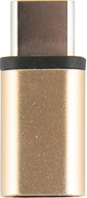 Адаптер-переходник Red Line Micro USB-Type-C золотой адаптер type c micro usb ugreen белый