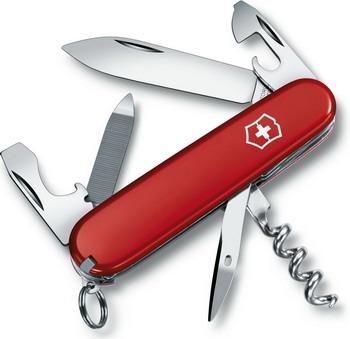 Нож перочинный Victorinox Sportsman 84 мм 13 функций красный платье oodji ultra цвет красный белый 14001071 13 46148 4512s размер xs 42 170