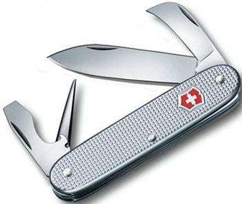 Нож перочинный Victorinox Pioneer 93 мм 6 функций алюминиевая рукоять серебристый victorinox набор ножей для стейков swiss classic 6 пр 11 см 6 7232 6 victorinox