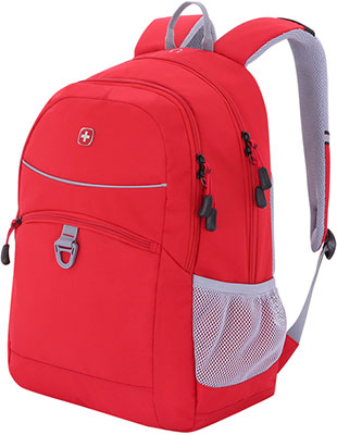 Рюкзак для города Wenger красный/серый полиэстер 600D/хонейкомб 33x16.5x46 см 26 л 6651114408 рюкзак городской wenger 26 л серый серебристый 34х16х48см