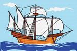Картина по номерам Цветной ''Кораблик'' (10х15) на подрамнике  pa182