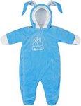 Комбинезон Picollino велюровый Кролик утепленный  СК3-КМ002 (в)  ярко голубой  62-40(20)