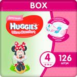 Подгузники Huggies Ultra Comfort 4 разм (8-14 кг) M (Maxi) Disney Box (42*3) 126 шт. Д/ДЕВ