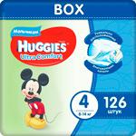 Подгузники Huggies Ultra Comfort 4 разм (8-14 кг) M (Maxi) Disney Box (42*3) 126 шт. Д/МАЛЬЧ