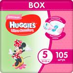 Подгузники Huggies Ultra Comfort 5 разм (12-22 кг) L (Junior) Disney Box (35*3) 105 шт. Д/ДЕВ