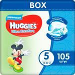 Подгузники Huggies Ultra Comfort 5 разм (12-22 кг) L (Junior) Disney Box (35*3) 105 шт. Д/МАЛЬЧ