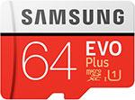 Карта памяти Samsung microSDXC 64Gb Class10 EVO+ с адаптером MB-MC64HA/RU
