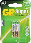 Батарейка GP 24A(LR03) 2 штуки Super Alkaline AAA