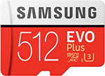 Карта памяти Samsung microSDXC 512Gb Class10 EVO+ с адаптером MB-MC512HA/RU