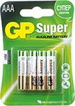 Батарейка GP 24A(LR03) 4 штуки Super Alkaline AAA