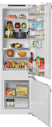 Встраиваемый двухкамерный холодильник Siemens KI 87 SAF 30 R
